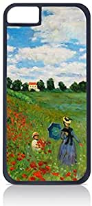 Claude Monet-The Poppy Field Near Argenteuil- Case for the Apple iphone 5c Only-Hard Black Plastic Outer Shell