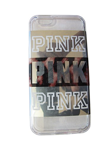Victoria's Secret PINK iPhone 6 Cover Case Leopard Colorblock White Clear