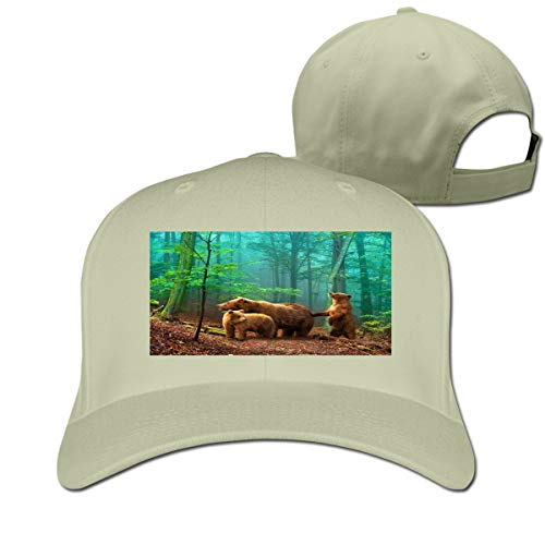 Cute Baby Bear is Warm and Lovely Adjustable Baseball Cap Classic Curved Sunhat Dome Natural ()