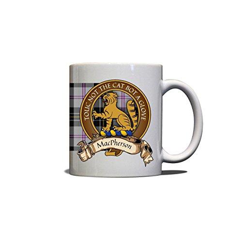 MacPherson Scottish Clan Crest Motto Dress Tartan Mug