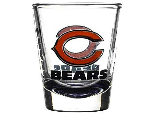 Stained Bears Glass Nfl Chicago - Boelter Brands Chicago Bears 2 oz. Shot Glass