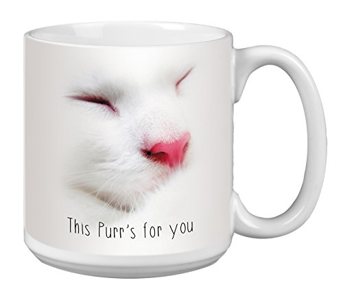 Cute Cat Extra Large Mug, 20-Ounce Jumbo Ceramic Coffee Mug Cup, This Purr Themed Pet Lover Art - Gift for Kitten Lover (XM63174) Tree-Free (Pet Lovers Mug)