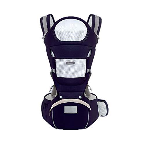 FH Babytrage, Baumwolle Vier Jahreszeiten Lagerung Multi-Funktions-Baby-Strap Komfortabel Und Atmungsaktiv, Geeignet Für 0-36 Monate Baby (Farbe   Blau (B))
