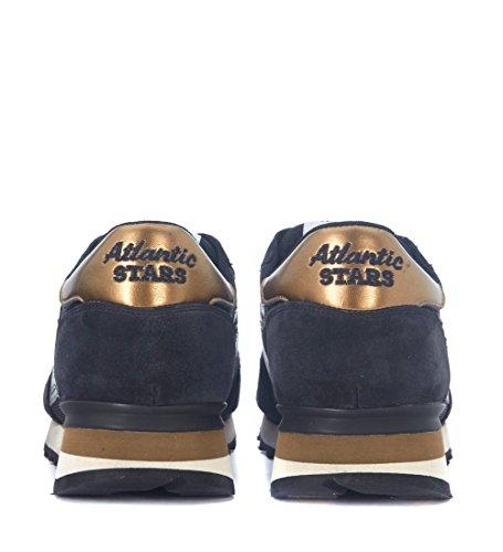 Atlantic Stars Hombres Argo Black Suede And Mesh Sneakers Black