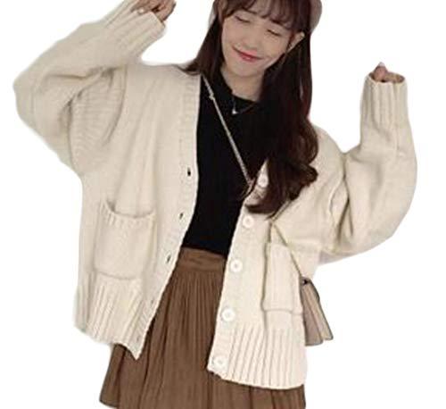 ZhongJue(ジュージェン) カーディガン レディース ゆったり ニットカーディガン ケーブル編み かわいい 秋 冬 アウター 通学 ニットセーター