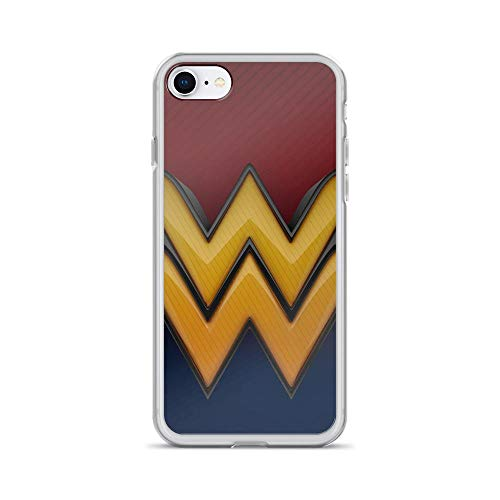 iPhone 7/8 Anti-Scratch Shockproof Clear Case Wonder-Woman Superhero Movie Comic Logo