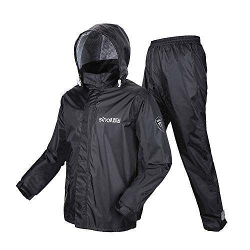 Uomini Black Escursionismo M Moto Size Tuta Geyao Equitazione Pantaloni Adulto All'aperto Impermeabile Diviso Pioggia color Black qwpR7x8wF