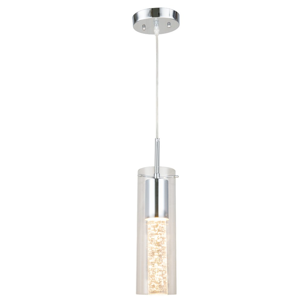One-Light Pendant Lamp, Naturous Crystal Hanging Pendant Light with ...
