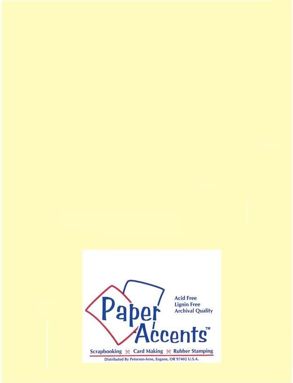 Accent Design Paper Accents Vellum8511LightYellow VellumLightYellow