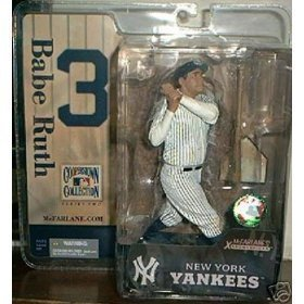 (Babe Ruth New York Yankees McFarlane Cooperstown Series 2 Six Inch Action Figure)