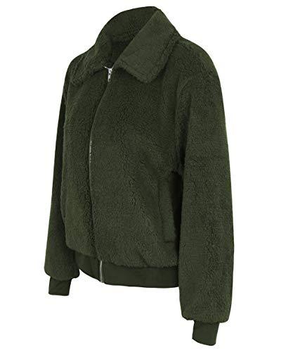 Tempérament Veste Blouson Jacket Manteau Cardigan Hiver Femmes Velvet Pullover Longues Tops Warm Blouse Fit Slim Vert Stay Snone Hauts Manches qpx1UTxCw