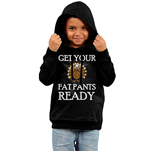 Get Your Fat Pants Ready Thanksgiving Turkey Dinner Unisex Child Long-sleeve Cotton Pullover Hoodies - Del Costa Ma