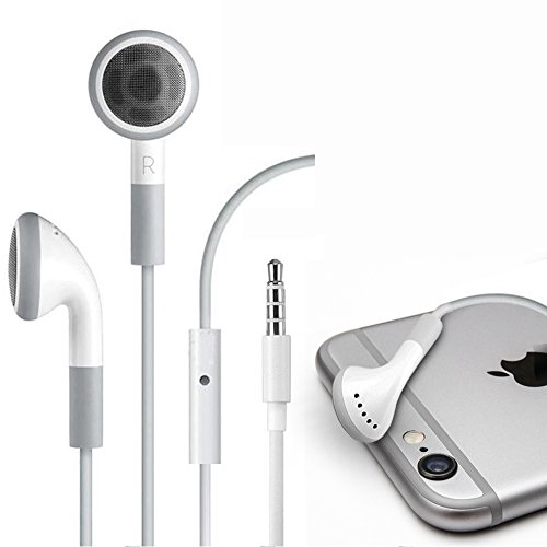 Fosmon Headphone Earbuds 3.5mm In-Ear Headset with Microphone Earphone for Apple iPhone 6S/6S Plus, 6/6 Plus / SE / 5S / 5C / 5 / 4 / 4S / iPad / iPod Touch 5th / 4th Gen