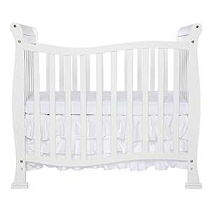 Dream On Me Piper 4-in-1 Convertible Mini Crib, White