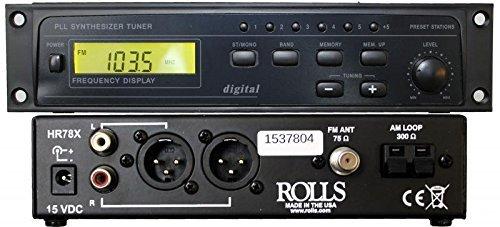 Rolls HR78X Digital AM/FM Tuner with XLR Output [並行輸入品] B073VFG6BJ