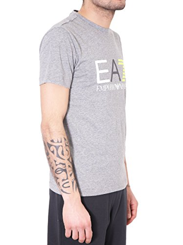 Emporio Armani EA7 t-shirt maglia maniche corte girocollo uomo grigio