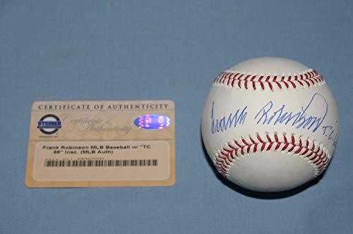 - Hof Frank Robinson Triple Crown Autographed Signed Memorabilia Steiner Baseball Ball RoMLB