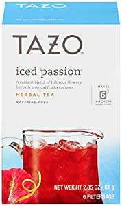 Tazo Filter Bag Tea, Passion Iced,6 count (pack of 4)