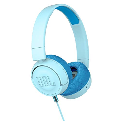 JBL JR300 Kids Folding On-Ear Headphones – Blue – JBLJR300BLU (Renewed)