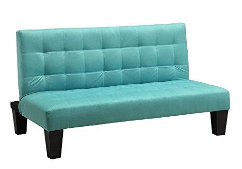 DHP Ariana Junior Microfiber Sofa Futon Couch, Teal, Perfect For Childrens (Microfiber Futon Sofa)
