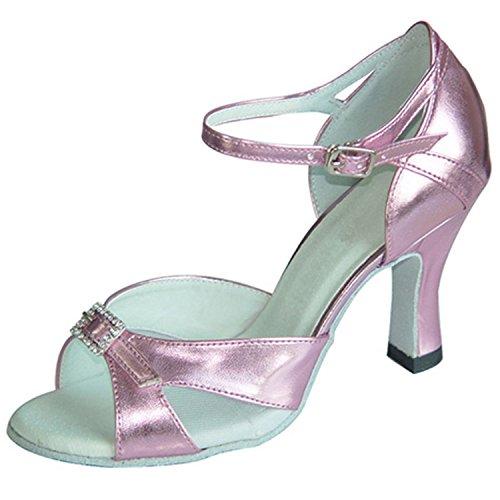 Tobillo Onecolor de Zapatos Baile Zapatos Samba de Zapatos Baile Sandalias Tira Verano Latino de Zapatos de de de Latino Cuero BYLE Baile Jazz Modern Adultos PtSzPWn