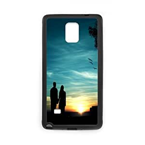 Samsung Galaxy Note 4 Case, romantic sunset Case for Samsung Galaxy Note 4 Black