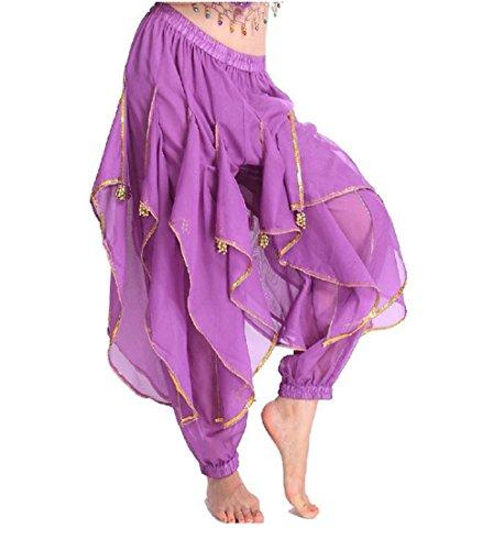 TFJH E Belly Dance Harem Bollywood Arabic Tribal Costume Pants (Bollywood Dance Costumes)