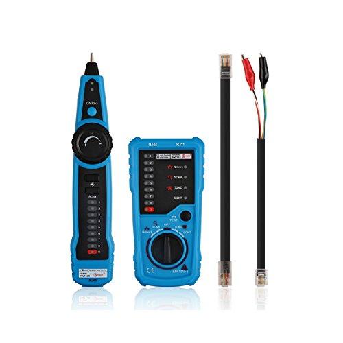 AOZBZ Multifunction RJ11 RJ45 Cat5 Cat6 Telephone Wire Tracker Toner Ethernet LAN Network Cable Tester Finder