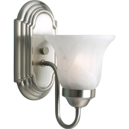 Progress Lighting P3051-09 1-Light Bath Bracket, Brushed Nickel