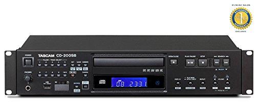 TASCAM CD-200SB Single SD/SDHC, USB & CD Professional 2U Rackmountable Player