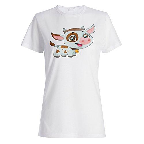 Ich liebe nette Haustier-lustige Neuheit-neue Tier-Kuh Damen T-shirt c923f