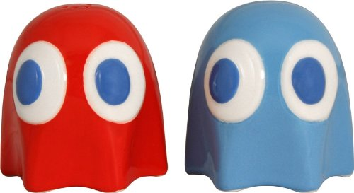 Pac-Man Ceramic Salt and Pepper Shakers