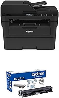 Brother MFCL2730DW - Impresora multifunción láser monocromo con fax + Brother TN-2410 Laser cartridge 1200 páginas Negro tóner y cartucho láser