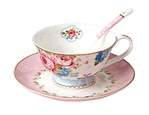 Jusalpha Vintage China Teacup Saucer