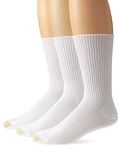 (Gold Toe Men's Fluffies Casual Sock (2 PK (6 PAIRS), White))