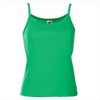Fruit of the Loom - Spaghetti-Träger-Top 'Lady-Fit Strap T' XS,Kelly Green