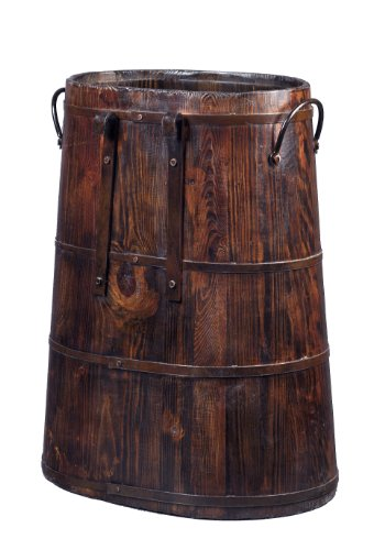 Chinese Barrel with Iron Rings, Natural Pine by Antique Revival