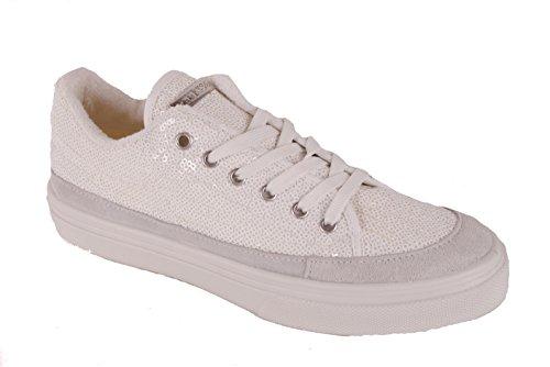 Guess Damen Sneaker Schnürschuhe Weiß