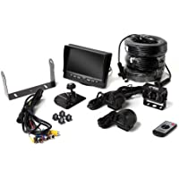 Backup Camera System with Side Cameras and Quad View Monitor for RVs, Trucks and Buses