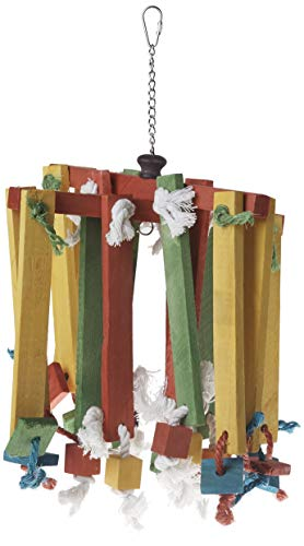 Prevue Bird Chew Toy - Prevue Pet Products 60948 Bodacious Bites Wood Chimes Bird Toy, Multicolor