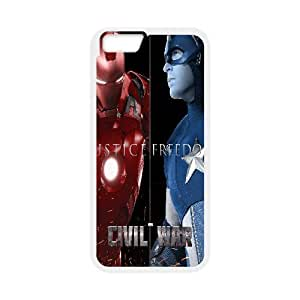X-Men Case Cover For Apple Iphone 6 4.7 Inch Marvel's Civil War Poster Men for Girls Protective, Phone Case Cover For Apple Iphone 6 4.7 Inch for Men, [White]