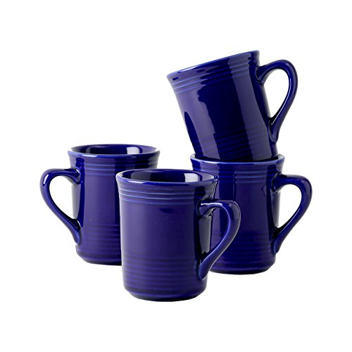Tuxton Home Concentrix Gala Mug (Set of 4), 8 oz, Cobalt Blue; Heavy Duty; Chip Resistant; Lead and Cadmium Free; Freezer to Oven Safe up to 500F
