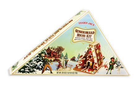 Gingerbread Cookie Decorations (Trader Joes Gingerbread House Kit, Authentic German Hexen Haus with Candy and Cookie Decorations, Make A Special House for any holiday - St. Patricks, Mothers Day or Fathers Day.)