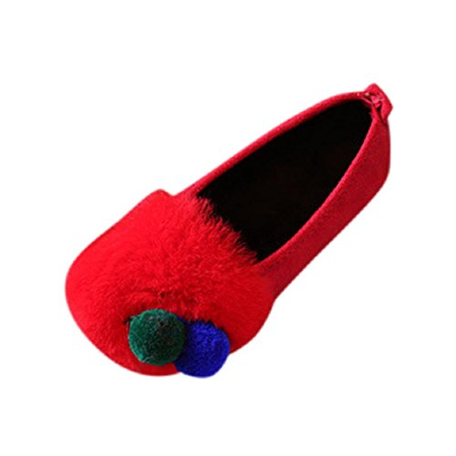 Naladoo Children Baby Fashion Flock Fony Girls Doug Shoes Solid Baby Casual Shoes (3.5-4 years old, ()