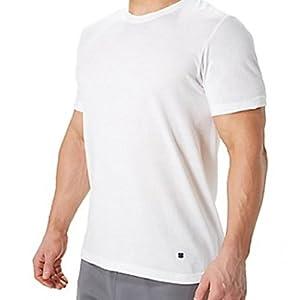 Lucky Brand Men's 3-Pack Crew T-Shirt, White, Large