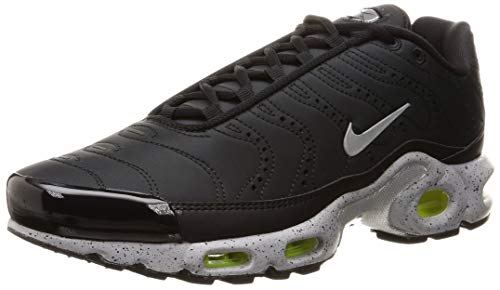 - Nike Men's Air Max Plus Black/Matte Silver/Volt/Wolf Grey Mesh Running Shoes 10.5 M US