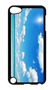 Ipod 5 Case,MOKSHOP Adorable Beautiful Beach Hard Case Protective Shell Cell Phone Cover For Ipod 5 - PC Black