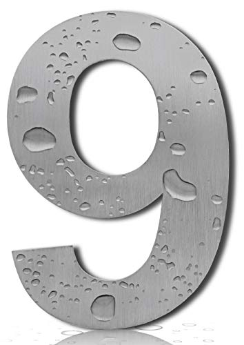 Royal H&H Large Modern House Numbers 6 Inch (Number 6/9 Six Nine) Floating Home Address Numerals Sign Plaque Heavy Duty Mount for Home Hotel Office Brushed Nickel Solid Stainless ()