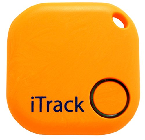 iTrack Key finder GPS Smartphone Bluetooth, Easy Anti-Lost Device to Track Items, Easy to Use, App and LED Alarm Device with Batteries, Also Remote Camera Controller, Green