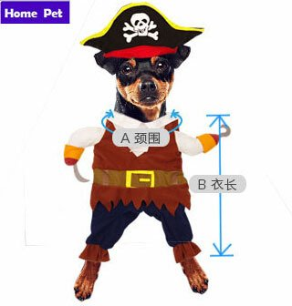 New Arrival Pet Dog Cat Clothes Pirate style Pet Dogs cosplay Coat Free Shipping Dogs Clothes new clothing for dog Cosplay S22